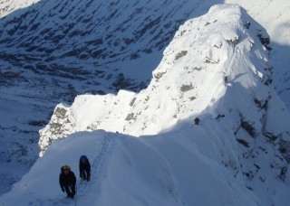 Climbing on Ben Nevis
