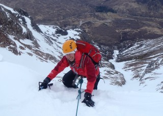Penny at the top of the gully