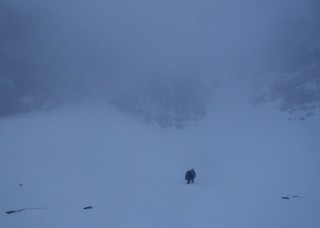 Kenny G heading for Dorsal Arete