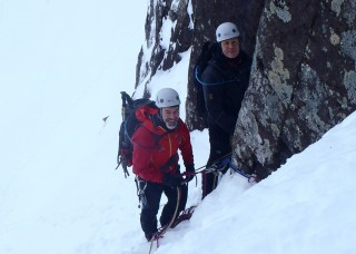 Paul and Guy at the first belay