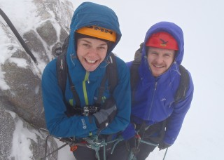Happy for their first day on crampons