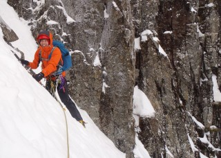 David crossing over from NC Gully